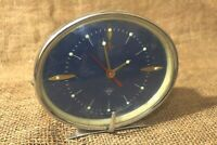 Vintage Diamond Alarm Clock Rare Model blue alarm clock Excellent Condition #130