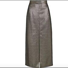 NWT Sass & Bide Mojo Kiko Limited Edition The Professor Gold Midi Skirt Size 2