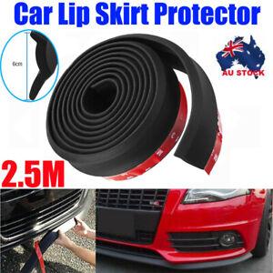 Car Front Bumper Lip Skirt Protector Splitter Body Spoiler Rubber Universal AU