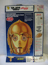 1984 vintage Star Wars C-3PO's cereal box Threepio mask offer Kellogg's 1980s !!