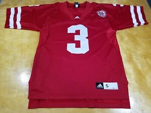 Nebraska Huskers #3 adidas Football Jersey Size S Good Shape