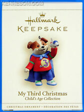 My Third Christmas Child's Age Collection 3rd Boy Dog Hallmark Ornament 2006