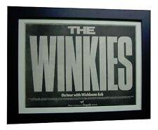 THE WINKIES+TOUR+RARE ORIGINAL 1974 POSTER AD+QUALITY FRAMED+EXPRESS GLOBAL SHIP