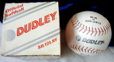 Dudley Softball Cork Center Leather Sb 12Lrf Nos White w/ Red stitch