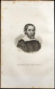 Porträt (1838) - Fabri von Peiresc (Nicolas-Claude) - landkarte Der Mond