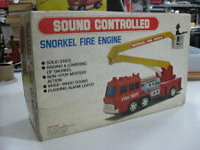SNORKEL FIRE ENGINE SOUND CONTROLLED-TINS TOY INDUSTRIAL-1960'S-UNUSED