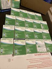 100 One Touch Ultra Blue Test Strips Ex Late 2021 2022 Some Broken Seal /Tapes
