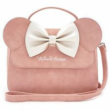 Minnie Mouse Purse Crossbody Loungefly 3D Ears Bow Pink 2018 NEW RELEASE