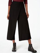 be22e07e08b51 Eileen Fisher Womens Black Wide Leg Asymmetrical Cropped Pants XS BHFO 8689