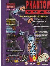 Original 1995 PHNATOM 2040 Super Nintendo Sega Genesis video game print ad page
