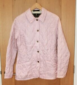 Womens Barbour Baby Pink Quilted Lightweight Soft Jacket Coat Size 8 VGC