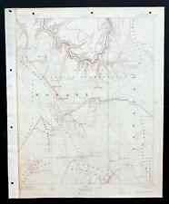 Diamond Creek Arizona Vintage USGS Topographic Map 1892 Grand Canyon NP