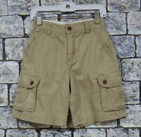 EUC Polo Ralph Lauren Boys Brown Adjustable Waist Cargo Shorts Size 6