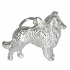 Collie Dog Sterling Silver Charm .925 x 1 Lassie Dogs Charms Bj2057