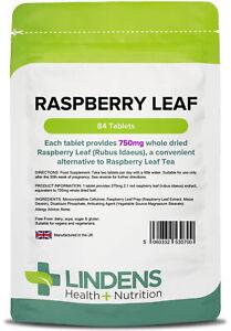 Raspberry Leaf 750mg - 84 Tablets - [Lindens 0700]