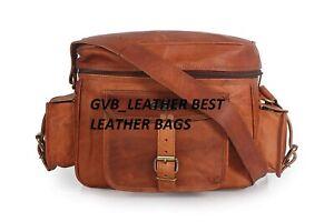 Gvb_leather Logo vintage handmade Real leather satchel bag for camera, DSLR, SLR