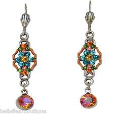 Anne Koplik Fantasy Flower Drop Leverback Earrings *Made in USA*