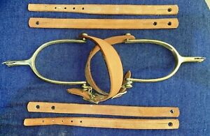 M1917 Cavalry Spurs with rowels and leather straps - Reproduction