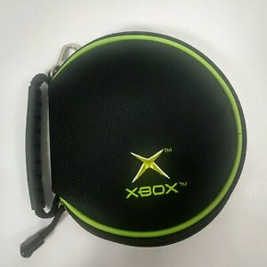 Original Official Microsoft Xbox 12 Game Disc Holder Zippered Storage Case