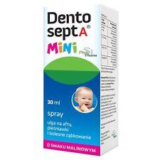 DENTOSEPT spray na dziąsła dzieci afty ząbkowanie Aphthae thrush teething 30ml