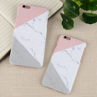 For iPhone 6 7 7 Plus 5S Granite Marble Contrast Color PC Hard Case Cover 2018