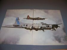 "VINTAGE..B-17 ""SENTIMENTAL JOURNEY""   ..2-PAGE COLOR  PHOTO PAGES...RARE! (745L)"