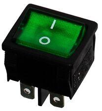 Interrupteur commutateur contacteur bouton à bascule vert DPST ON-OFF 6A/250V