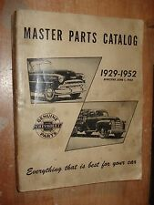 1929-1952 Chevy Master Parts Book Catalog Truck Car Numbers List 51 50 49 48 47