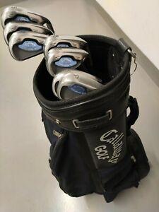 Callaway Steelhead X16 Eisen Satz Damen UL-45 Lady L Flex Graphite mit Golfbag
