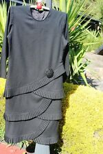 VINTAGE BLACK DRESS BY MARTI  SIZE 12