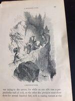 H2-2 Ephemera 1872 Book Plate - The Amazon A Mountain Path