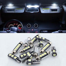 bianca CANBUS 16pcs INTERNO LUCE LED KIT PER 09-16 AUDI A4 S4 RS4 B8 60-130lm