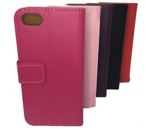 PU Leather Magnetic Flip Phone Rear Closing Case For iPhone+Samsung