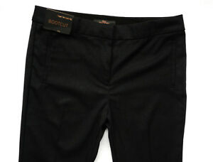 BNWT NEXT  Work charcoal black bootcut office smart work trousers stretch R/L