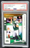 2018 Rookies and Stars GOLD Jets SAM DARNOLD Rookie Card /10 PSA 10 GEM / Pop 1