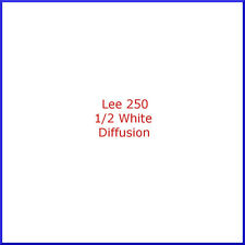 "Lee 250 Half White Diffusion Lighting Gel Filter Sheet 21""x24"""