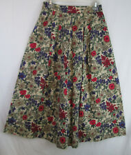 Vintage Maxi Skirt Luce's Small 100% Cotton Floral Print Pleated Bohemian Hippy
