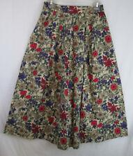 Vintage Maxi Skirt Luce's Small 100% Cotton Floral Print Bohemian Hippy 1980s