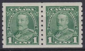 Canada 1935 #228  King George V Pictorial Coil PAIR - VF MH