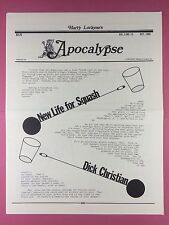 Harry Lorayne's APOCALYPSE - Magicians Newsletter  Vol.5 / No.10 - 1982 - Magic