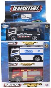 TEAMSTERZ Truck Vehicle Toy Emergency Response Ambulance Fire Police command