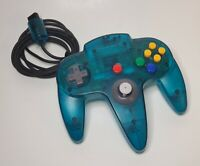 Original NINTENDO 64 N64 Authentic Clear Atomic Ice Blue Controller