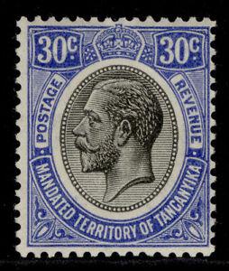 TANGANYIKA GV SG98a, 30c bright blue, M MINT. Cat £27.