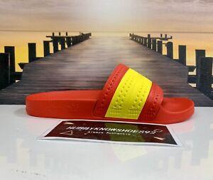 adidas Adilette Slides 'Spain' G55382 Red Yellow Men's Size 6 / Women's Size 7.5
