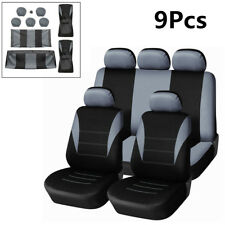 Single Mesh+2MM Gray Cotton Single Car Seat Protector Cover Cushion Seat Pad Set