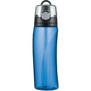 Thermos 710ml Blue Hydration Drinking Travel Gym Water Bottle Storage with Meter