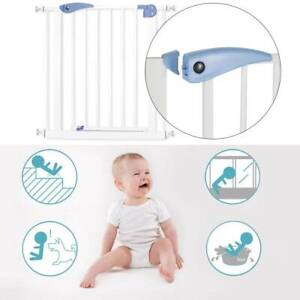 Auto Clos Child Safety baby pet Gate Stair Divider Barrier 76x79cm UK