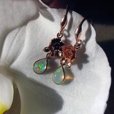 äthiopien opal ohrringe, bali design, 925 silber vergoldet