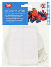 24 x 1lb Jam Pot Covers Complete Kit For Sealing & Labelling Preserves By Tala