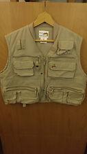 Black Hawk Cascade Fishing Utility Vest Size L 100% cottton Beige